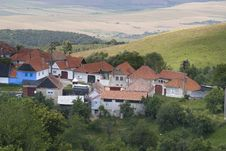 Mountain Village On Hill Top Stock Image