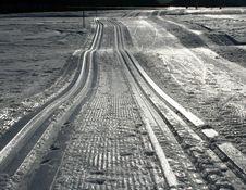Snow Tracks Stock Photos