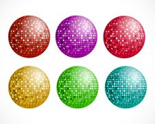 Free Disco Ball. Vector Illustration. Royalty Free Stock Photography - 15046487