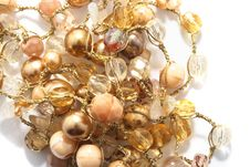 Free Golden And Yellow Beads Royalty Free Stock Photography - 15049087