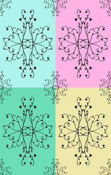 Free Pattern With Flowers And Leaves Stock Image - 15049291