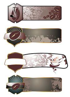 SET Of Vector Coffee,tea Design Stock Photography