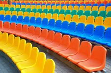 Free Empty Plastic Seats Royalty Free Stock Photography - 15049767