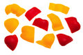 Free Red And Yellow Pepper Pieces. Royalty Free Stock Photo - 15052545