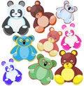 Free Multi-coloured Toys-bears Stock Photo - 15056540