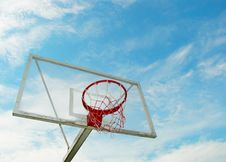 Free Outdoor Basketball Hoop Over Blue Sky Stock Image - 15050081