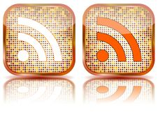 Free Icon RSS Glossy Button,  Illustration Stock Images - 15050144