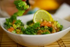Free Delicious Salad With Fish And Parsley. Royalty Free Stock Images - 15050499