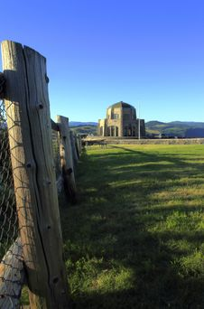 Free Vista House & Fence-posts Stock Photography - 15050882