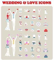 Free Wedding Bridal Icon Set Design Elements Stock Photography - 15050972