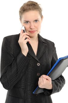 Free Businesswoman With Phone Royalty Free Stock Image - 15051296