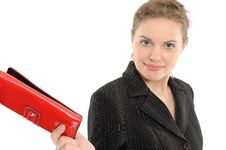 Free Businesswoman With Purse Stock Image - 15051311