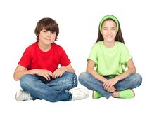 Free Couple Of Children Sitting Stock Photos - 15051823