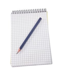 Free Isolated Notebook And Pen On The White Stock Photos - 15052763