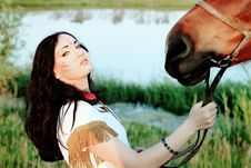 Free Woman With Horse Royalty Free Stock Photo - 15053825