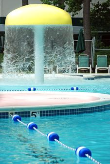 Fun Pool Water Feature Royalty Free Stock Photography
