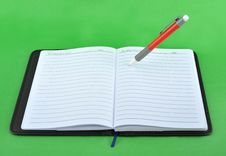 Free Notebook And Pen Royalty Free Stock Image - 15054396