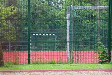 Free Football Ground Behind The Grids Stock Image - 15054531