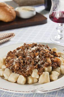Free Gnocchi Bolognese Stock Photo - 15054580
