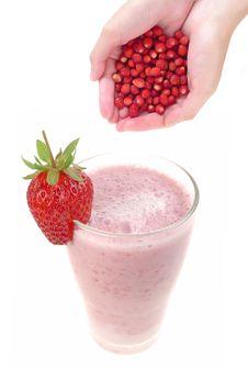 Free Healthy Drink Strawberry Milkshake Stock Photography - 15054662