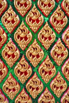Free Traditional Thai Style Art Pattern Royalty Free Stock Photography - 15055207