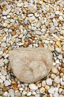 Round Pebble Stones Royalty Free Stock Images