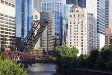 Free Bridges On Chicago River Stock Images - 15055454