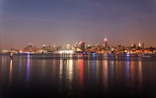 Free The Mid-town Manhattan Skyline Royalty Free Stock Image - 15056046