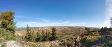 Mediterranean Landscape Panorama Stock Image