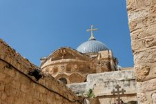 Dome Of The Church Of The Holy Sepulchre In Jerusa Royalty Free Stock Images