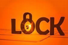 Lock Symbol Royalty Free Stock Image