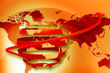 Free Globe And Dollar Rotating Arrows Royalty Free Stock Image - 15056866