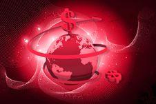 Free Globe And Dollar Rotating Arrows Stock Photo - 15056880