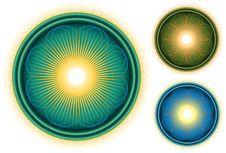 Glossy Bright Mandala Circle In Colors Stock Photography