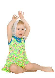 Girl With Raised Hand Royalty Free Stock Photography