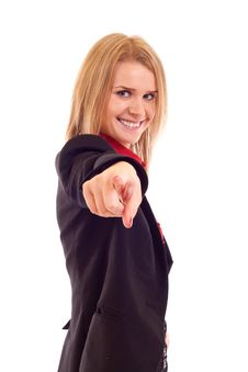 Free Woman Pointing On You Royalty Free Stock Photo - 15057275