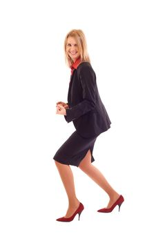 Very Excited Business Woman Stock Images