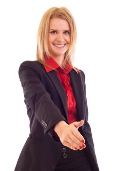 Woman Giving Hand For Handshake Royalty Free Stock Photography