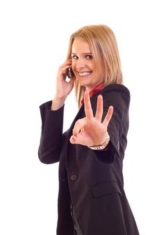 Free Woman With Phone Royalty Free Stock Photography - 15057307