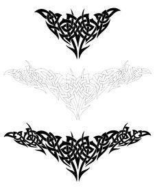 Set Of Tattoo Design Elements. Vector Stock Photo