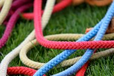 Free Gymnastic Ropes In Grass Stock Images - 15058524