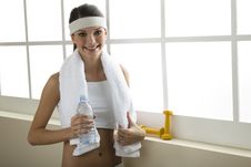 Young Woman Resting After Excercising Stock Image