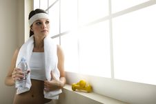 Free Young Woman Resting After Excercising Stock Image - 15059201