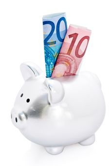 Piggy Bank And Euro Money Royalty Free Stock Images