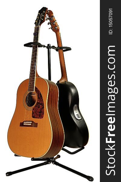 Guitars on guitar stand