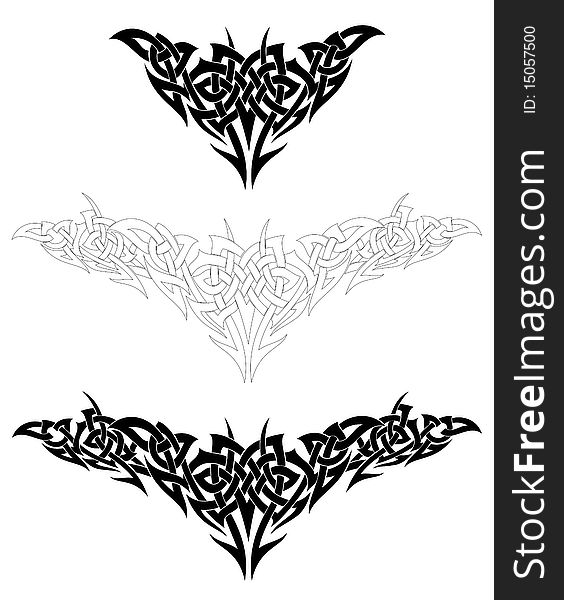 Set Of Tattoo Design Elements Vector Free Stock Images Photos