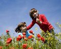 Free Sisters In The Corn Poppy Royalty Free Stock Photography - 15060527