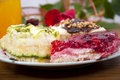 Free Sweet Desserts On White Plate Royalty Free Stock Photos - 15067088