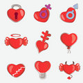 Free Hearts Set Royalty Free Stock Photos - 15067408