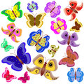 Free Set Of Motley Butterflies Stock Photos - 15069953
